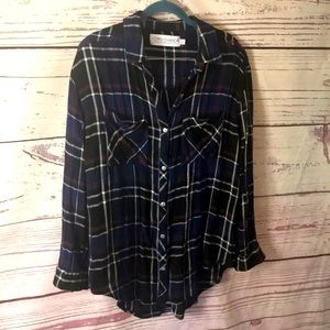 Gypsy Warrior boho flannel shirt
